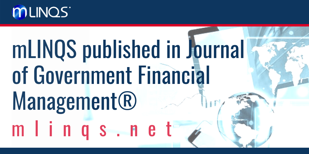 Journal of Government Financial Management®Publishes mLINQS' Letter to the Editor